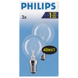 2 Lampes standard clair E14...