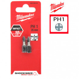 MILWAUKEE 2 embouts  PH1 -...