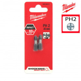 MILWAUKEE 2 embouts PH2 -...