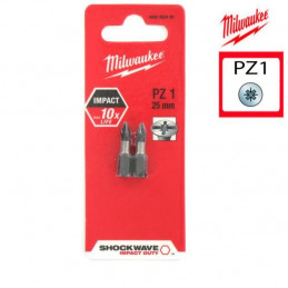 MILWAUKEE 2 embouts PZ1 -...