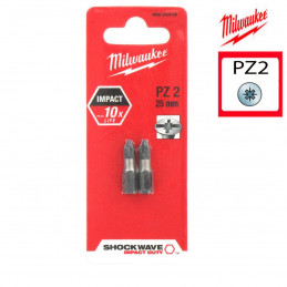 MILWAUKEE 2 embouts PZ2 -...