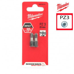 MILWAUKEE 2 embouts PZ3 -...