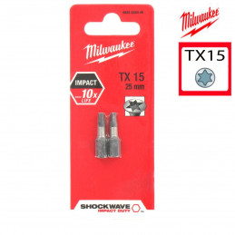 MILWAUKEE 2 embouts TX15 -...