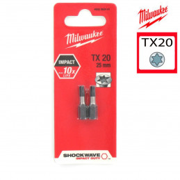 MILWAUKEE 2 embouts TX20 -...
