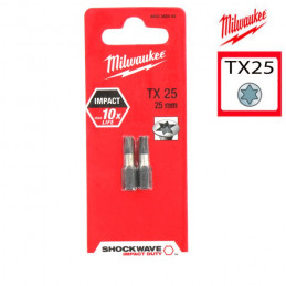 MILWAUKEE 2 embouts TX25 -...