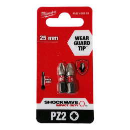 MILWAUKEE 25 embouts PZ2 -...