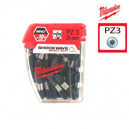 MILWAUKEE 25 embouts PZ3 -...